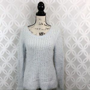 LC Lauren Conrad Fuzzy Light Blue Sweater